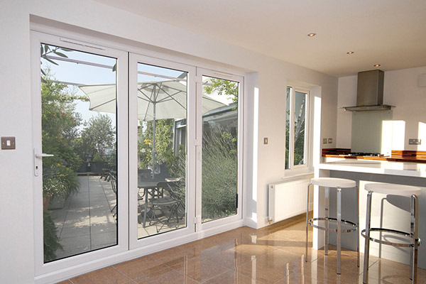 uPVC White Bi-Fold Doors